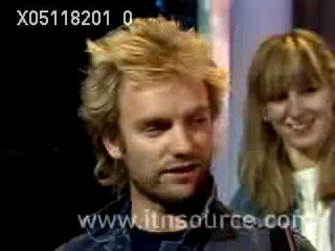 Sting interview 1982 PT 1