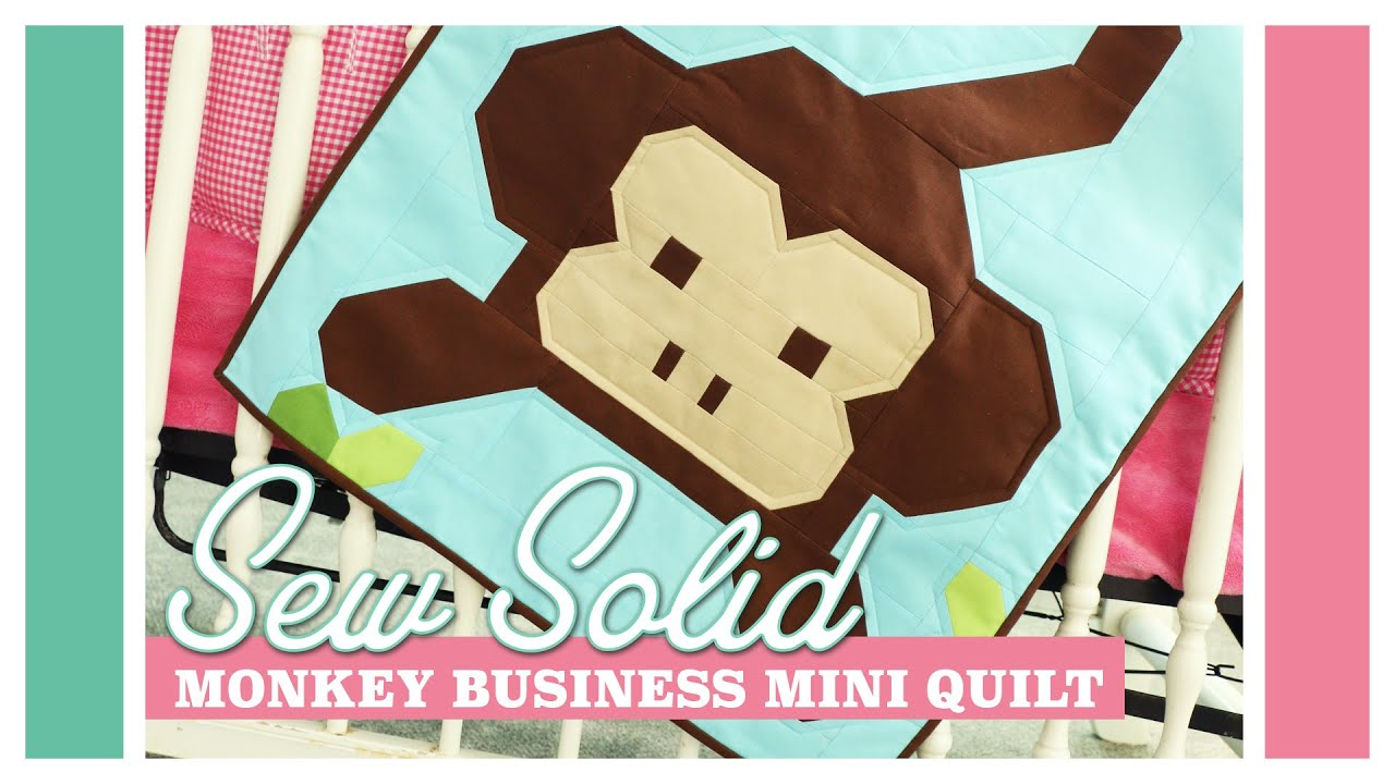 Monkey Business Mini Quilt: Easy Quilting Tutorial with Kimberly ... : monkey business quilt pattern - Adamdwight.com