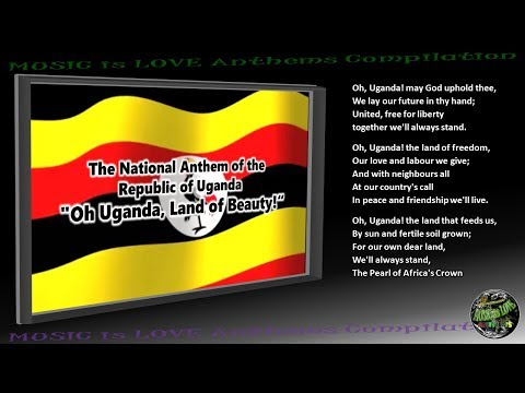 "Uganda National Anthem ""Oh Uganda, Land of Beauty!"" INSTRUMENTAL with lyrics"