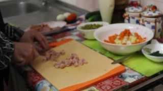 Салат оливье с копченой курицей