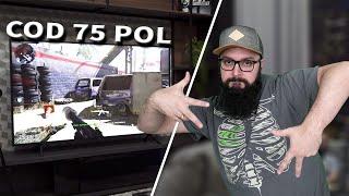 JOGANDO NA TELEVISÃO DE 75 POLEGADAS - Call of Duty Modern Warfare