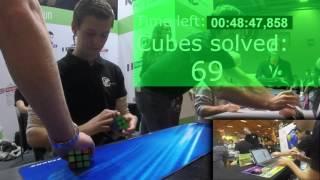 Guinness World Record - Mats Valk, 374 Rubik's cubes solved in 1 hour