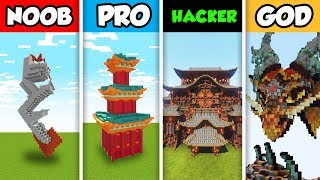 Minecraft NOOB vs. PRO vs. HACKER vs GOD: CHINESE NEW YEAR BUILD in Minecraft! (Animation)