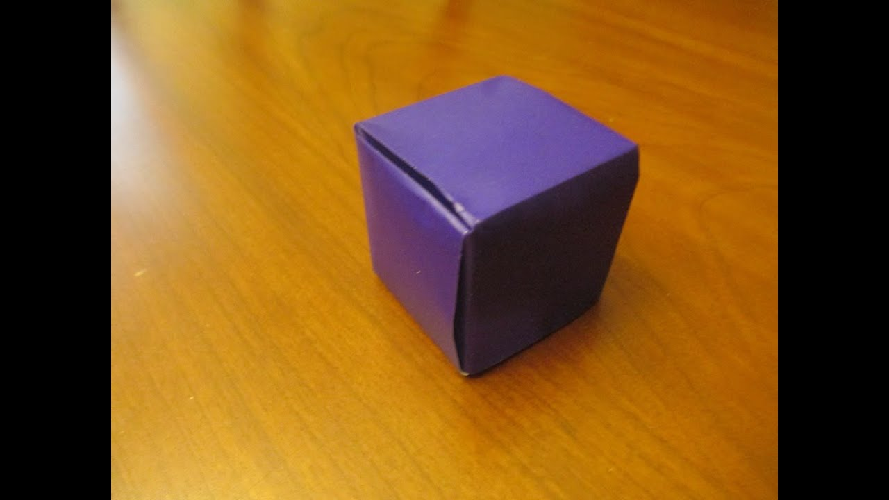 How To Make An Origami Seamless Cube