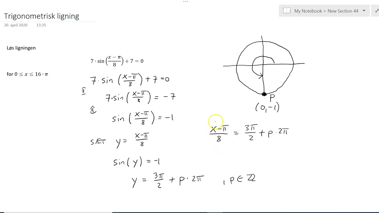 Trigonometrisk ligning Ex