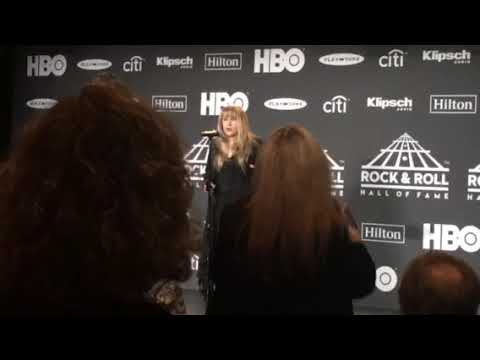 Rachel Lutzker - Stevie Nicks and a BIG WHOOPS at the Hall of Fame Ceremony