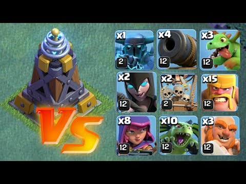 ALL TROOPS vs. MEGA TELSA | Clash of clans | Who is strongest?
