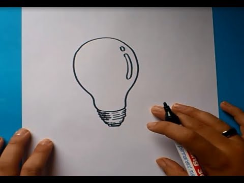 Como Dibujar Una Bombilla Paso A Paso 2 How To Draw A Bulb 2 Youtube
