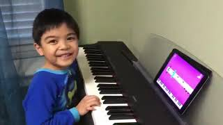 5-year-old Renzo's First Time Using Simply Piano App by JoyTunes