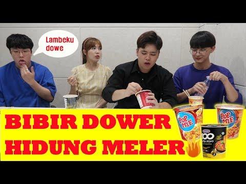 reaksi-orang-korea-makan-cup-mie-pedas!!-mie-instan-ini-mematikan...인도네시아-매운-컵라면-맛은?