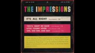 THE IMPRESSIONS - SAD SAD GIRL AND BOY - FRENCH EP ABC PARAMOUNT 45 90920A