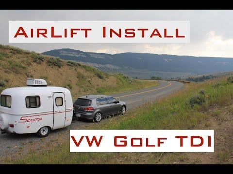 Airlift Install DIY – VW Golf TDI – 2009-2014