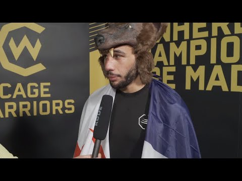 David Bear post-fight interview at CW113