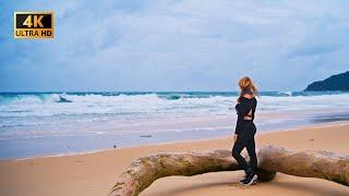 Пхукет Влог Шторм на пляже Карон в бурю на байке или настоящий сезон дождей