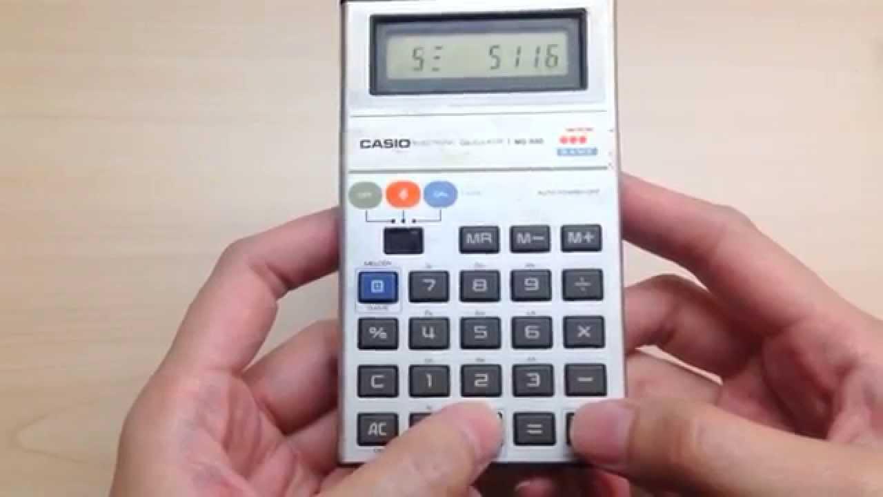 Casio relança calculadora musical dos anos 80 que também é videogame -  TecMundo