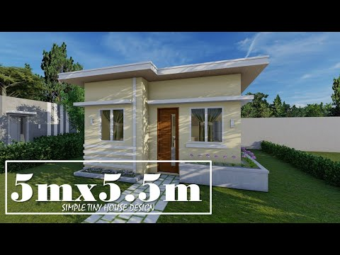 5mx5 5m Simple Small House Design With 1 Bedroom Youtube