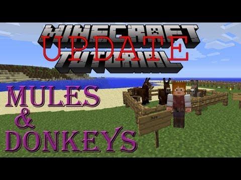 Minecraft Donkey & Mule Tutorial - 1.6.2 UPDATE!