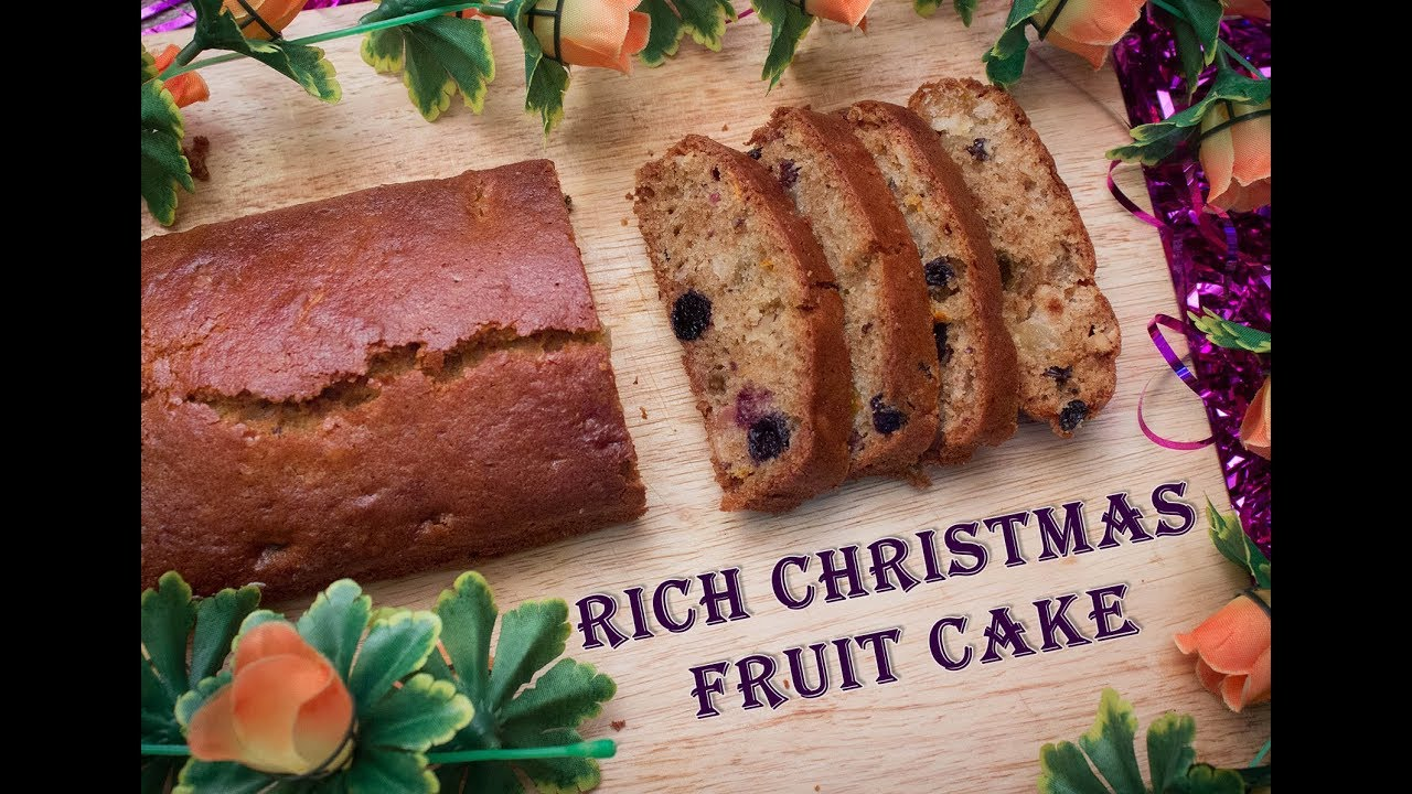 Rich Christmas Fruit Cake Without Rum