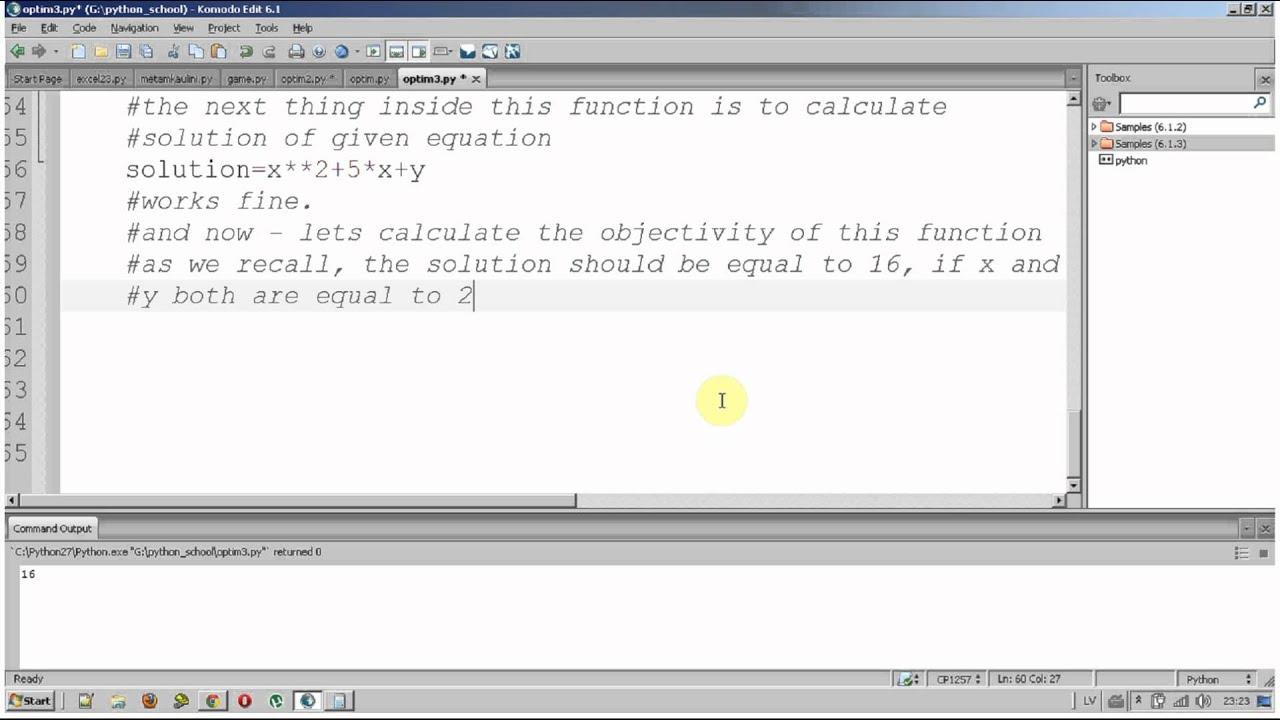 Python fmin optimization
