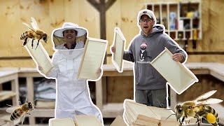 Getting the Homestead Ready for 20,000 BEES we ORDERED off the Internet