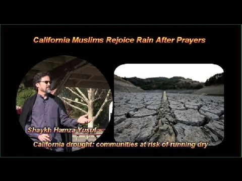 Bay Area - California  Muslims Rejoice Rain After Prayers
