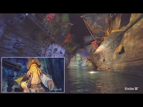 [4K] Immersive Pirates Ride at Shanghai Disneyland - Amazing Ride Technology