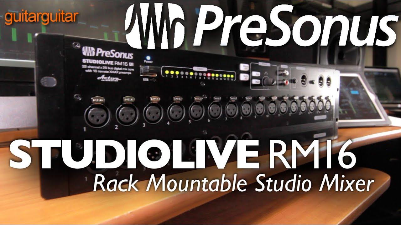 presonus rm16 rackmount digital mixing system