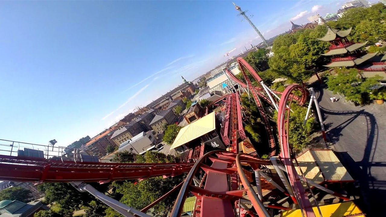 Tivoli Park Rides Dæmonen Front Seat On-ride Hd Pov Tivoli Gardens - Youtube