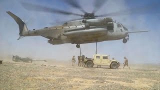 Gigantic Military Helicopter: CH-53E Super Stallion Airlifting
