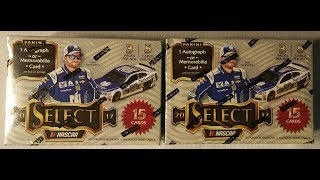 New 2017 Panini Nascar Select racing trading cards two box opening. On card auto and relic card.