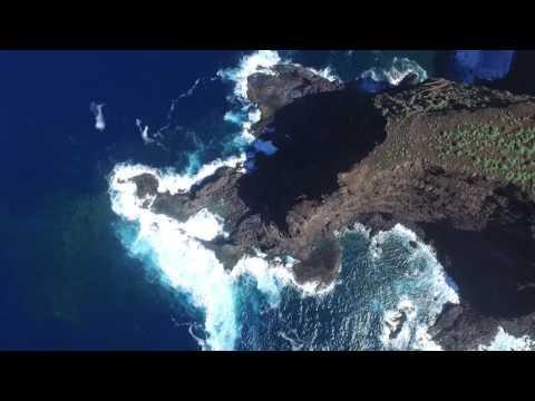 San Borondon QuadCopter sea flight Lomada Grande, Garafía, La Palma