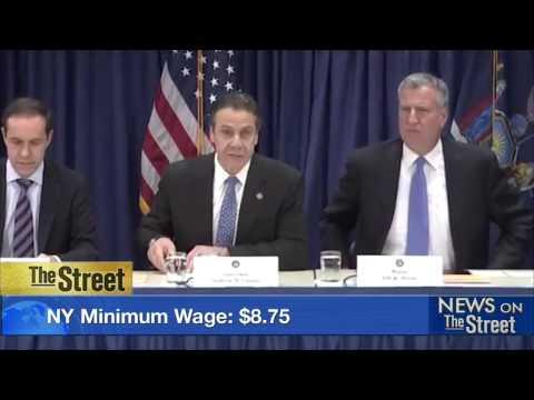 Mayor of NYC Calls on Business Leaders to Raise Minimum Wage
