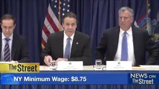 Mayor of NYC Calls on Business Leaders to Raise Minimum Wage