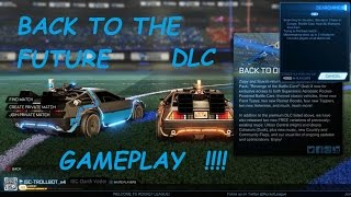 Rocket League : Back To The Future DLC - Gameplay -  DeLorean