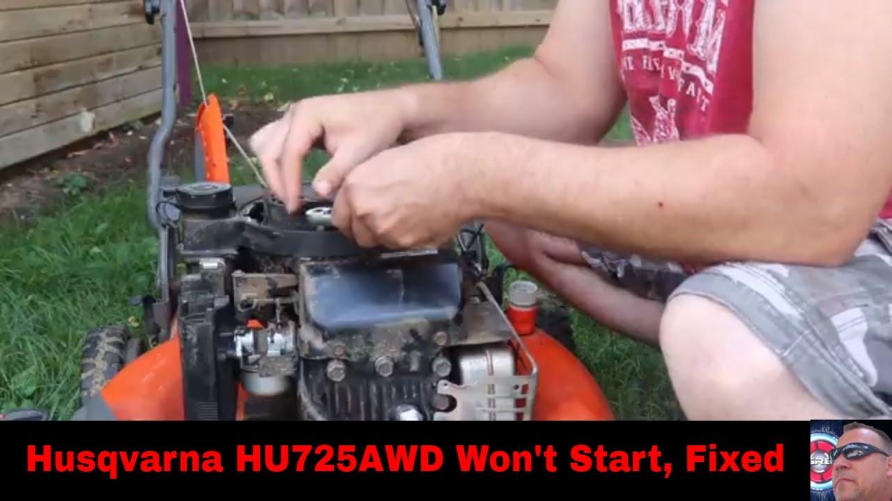 Husqvarna HU725AWD won't start, Fixed