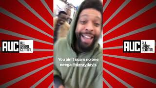 Mike Epps Michael Blackson and Deray Davis Airport ROAST Session