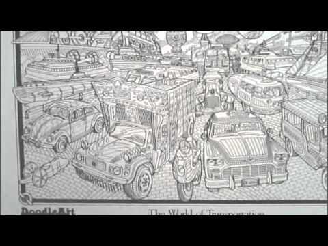 Doodle art coloring posters : Dalam mihrab cinta episode 025 part 1