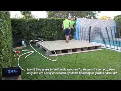 Evo crete handi block the one hour deck youtube for Building a low profile deck