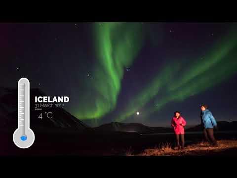 Iceland Aurora 2017 Real Time VDO