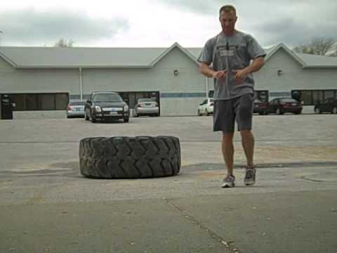 Omaha Nebraska Gym-The Forged Athlete- Tire Flipping