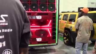 crazy loud hummer huge bass install ds18 speakers sbn 2015