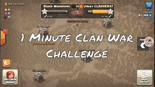1 MINUTE CLAN WAR CHALLENGE | 50 ATTACKS AT THE LAST 1 MINUTE OF WAR | TROLL-WAR | CLASH OF CLANS