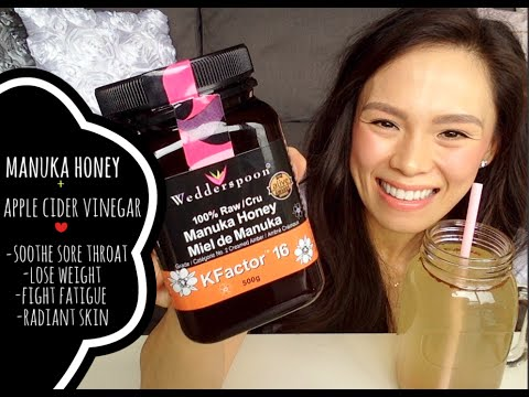 manuka-honey-+-apple-cider-vinegar- -lose-weight,-brighten-skin,-decrease-bloating