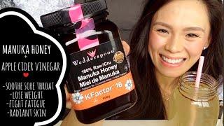 Manuka Honey + Apple Cider Vinegar | Lose Weight, Brighten Skin, Decrease Bloating