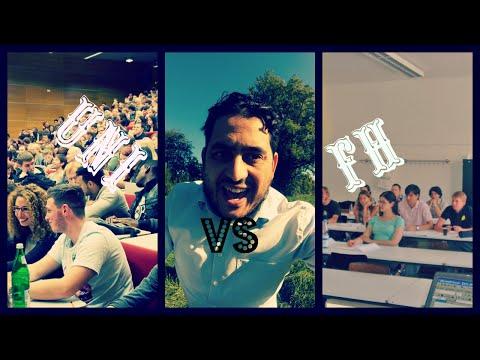الدراسة فى المانيا : UNI VS Fachhochschule