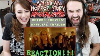 AMERICAN HORROR STORY: APOCALYPSE (Season 8) TRAILER REACTION!!!