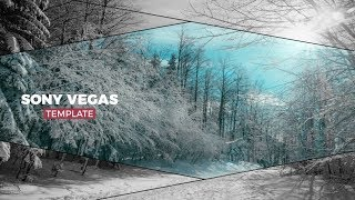 Best Intro Templates Sony Vegas Pro : Black Line Slideshow
