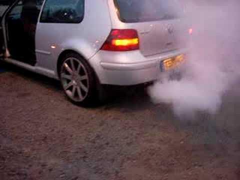 Oil burning off golf gti exhaust