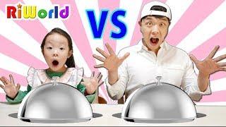 Cooking Contest Kitchen Kitchen Toy play PORORO noodle. RIWORLD 리원이와 아빠의 요리대결 2탄, 콩순이 믹서기 주방놀이
