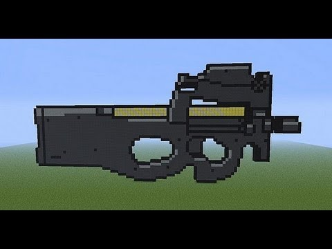 Minecraft Xbox/PC P90 Pixel Art TUTORIAL - YouTube